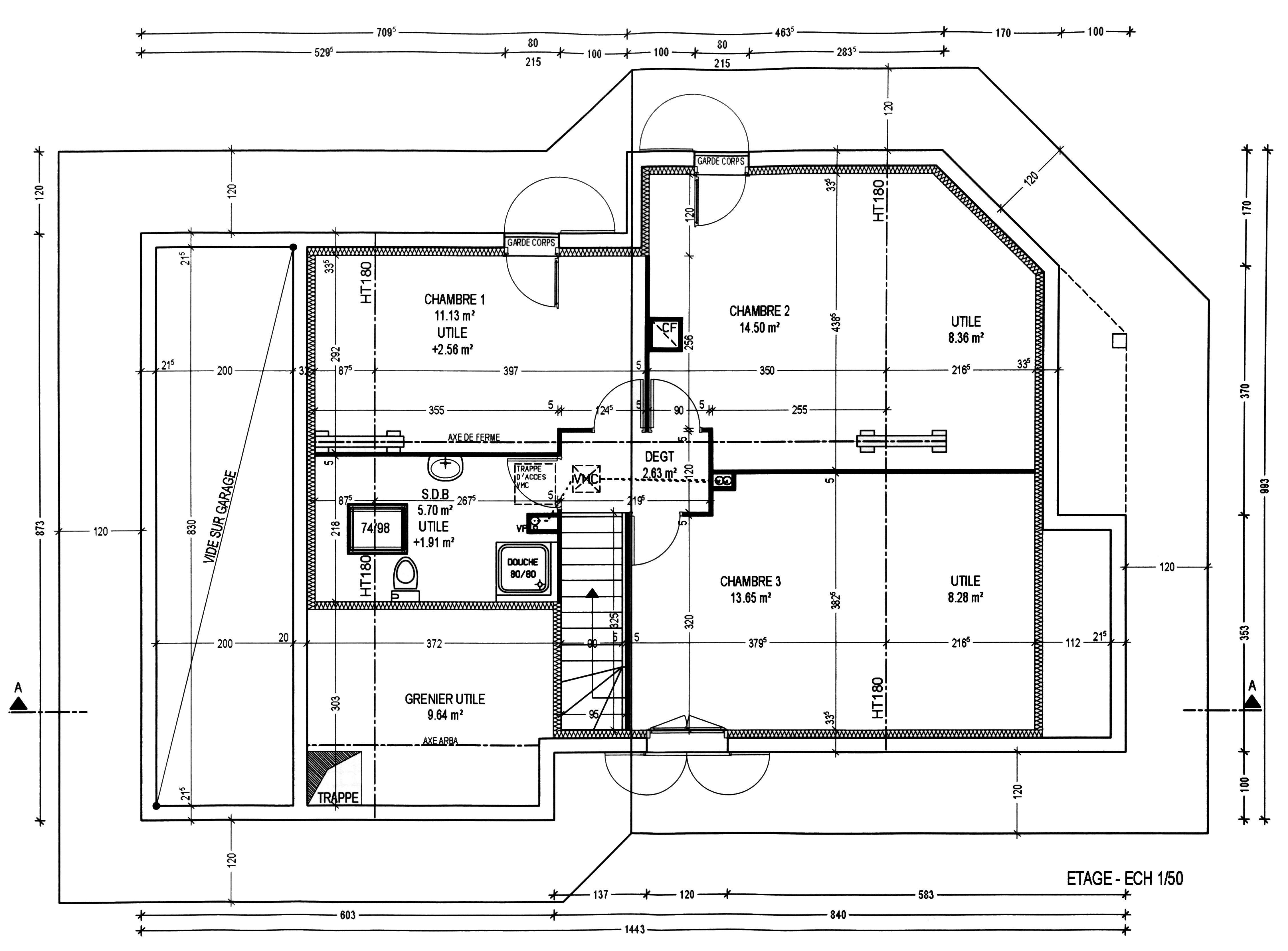 Plan maison gratuit sans etage