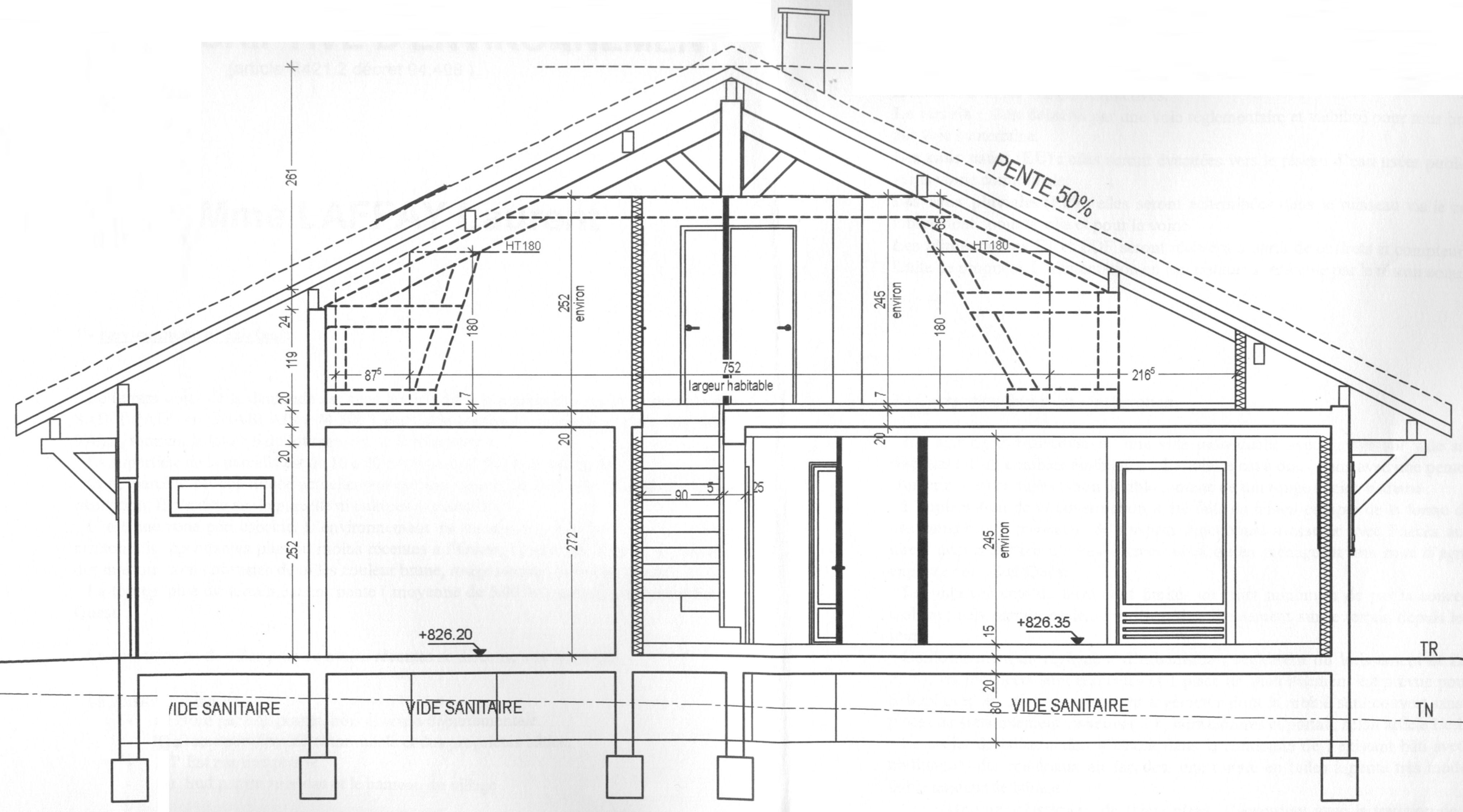 Coupe d 39 une maison - Plan de travail a la coupe ...